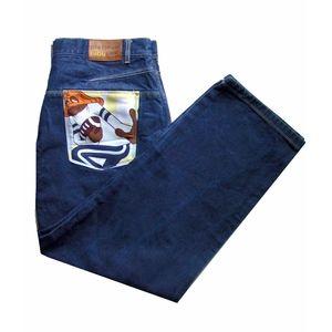 Vtg FUBU Platinum Fat Albert Hip Hop Jeans 44 34
